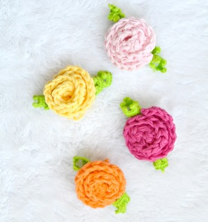 Easy Little Crochet Roses