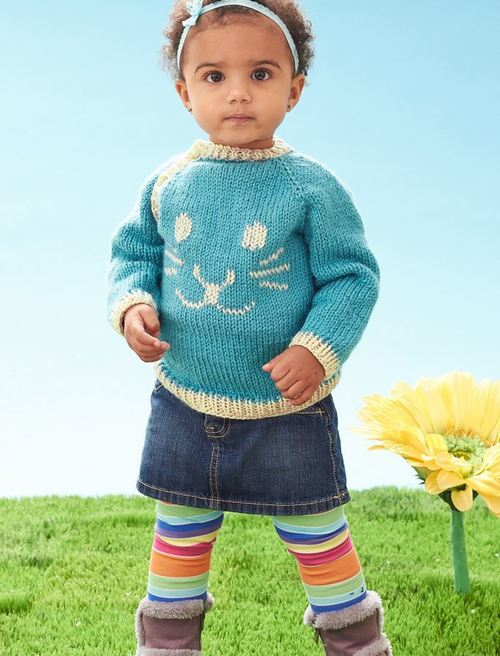 Snuggle Bunny Baby Sweater