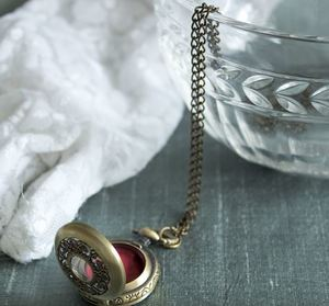 Steampunk Pocketwatch Lipgloss Bridal Shower Favors