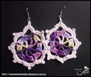 Iris Crochet Earrings Pattern