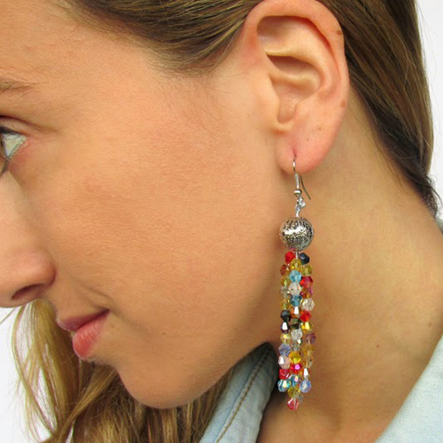 Colorful and Dangly Homemade Earrings