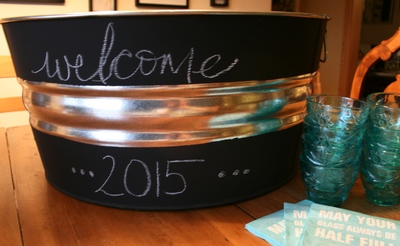 DIY Chalkboard Paint Beverage Tub