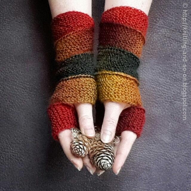 Knitting Gloves For Beginners Fingerless : Helix fingerless gloves knitting pattern favecrafts