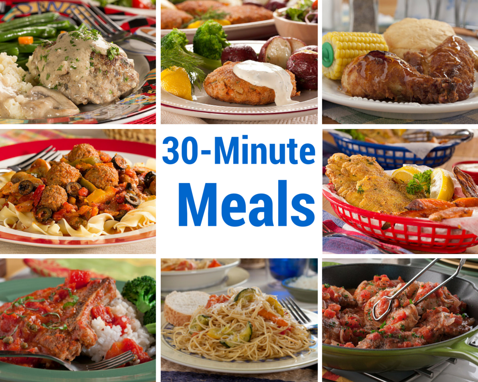 30 Recipes for 30-Minute Meals   MrFood.com