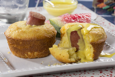 Crazy Corn Dog Muffins