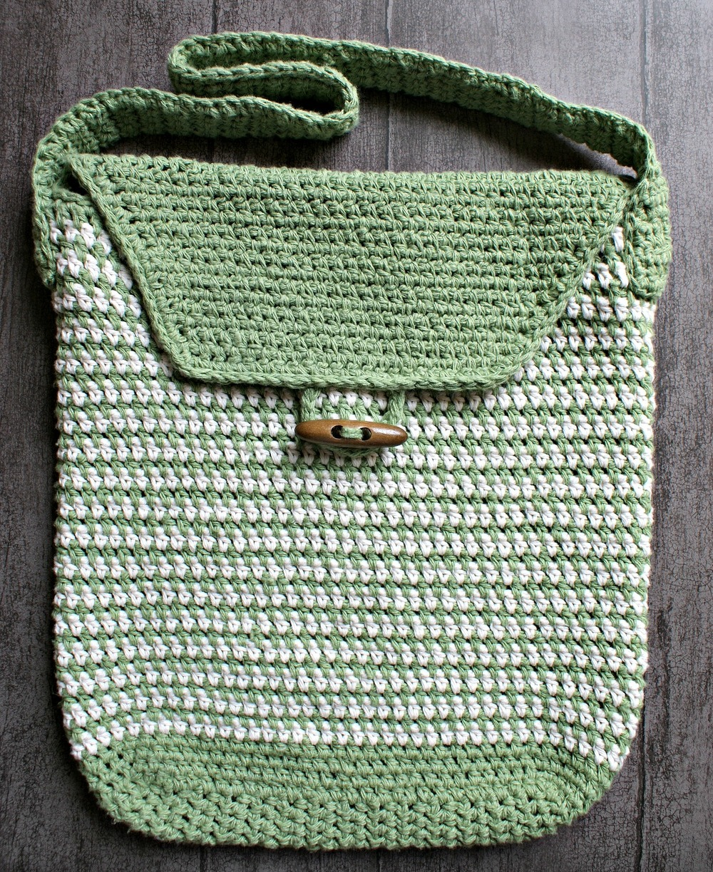 Work Satchel Crochet Bag Pattern | FaveCrafts.com