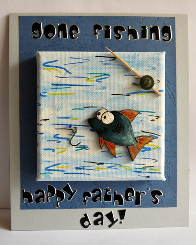 Gone Fishing Father's Day Card