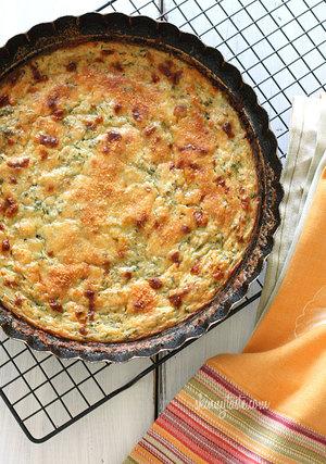 Crustless Cheesy Zucchini Pie