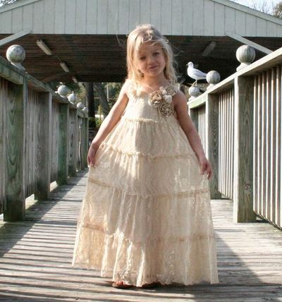 Beautiful Vintage Flower Girl Dress | AllFreeDIYWeddings.com