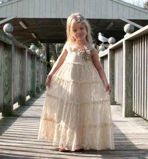 Beautiful Vintage Flower Girl Dress