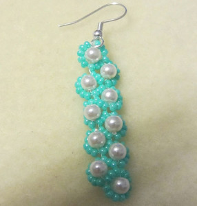 Magical Aqua Teardrop Earrings