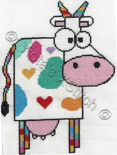 Funky Cow Cross Stitch Pattern