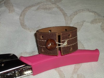 Recycled Leather Belt Bracelets