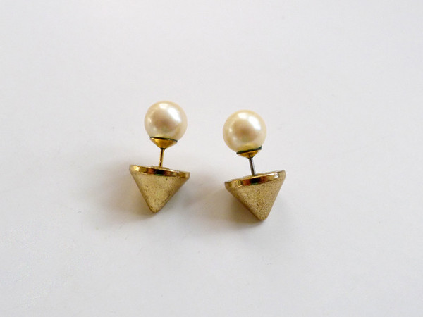 Pearl Cone Back DIY Earrings