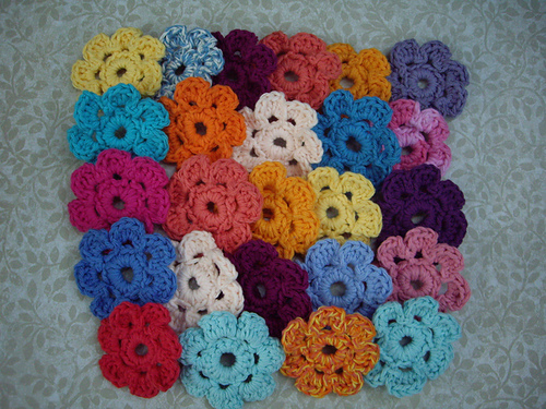 Easy crochet flower