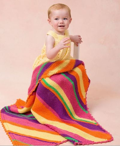 bright stripes baby blanket