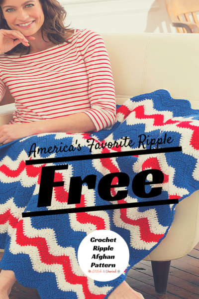 Fourth of July Crochet Ripple Afghan