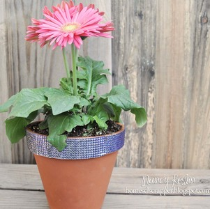Rhinestone Flower Pot Craft