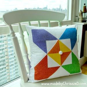Kaleidoscope Quilt Block Pillow