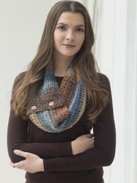 buttoned crochet cowl