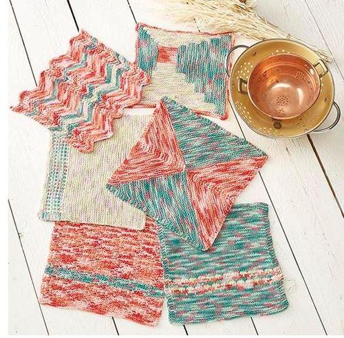 Free Knitting Patterns To Print Off : Classic Chevron Knit Dishcloth AllFreeKnitting.com