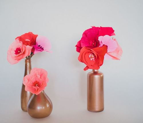 Lovely Ombre Crepe Paper Flowers
