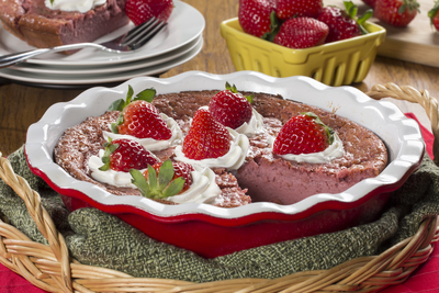 One Dish Strawberry Pie