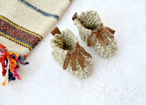 Moccasin Style Baby Booties Pattern