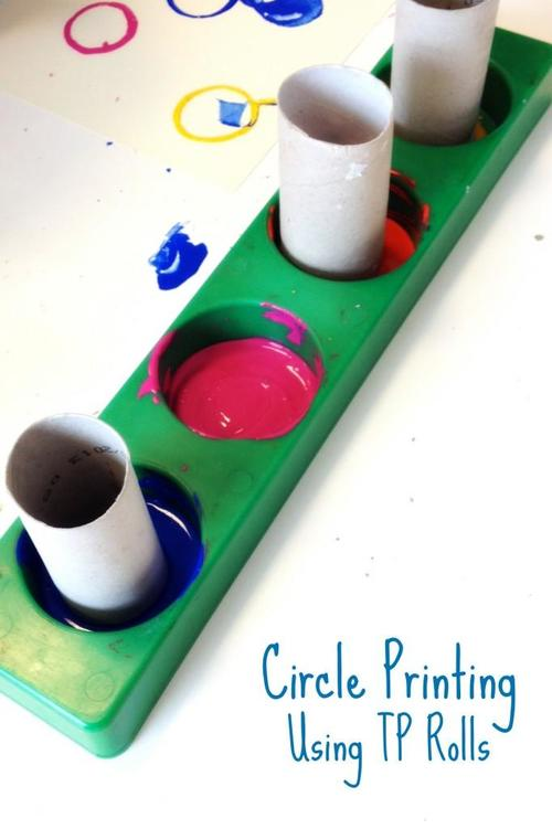 Toilet Paper Roll Paint Stamps