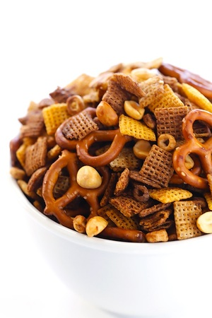 Slow Cooker Party Mix Snack