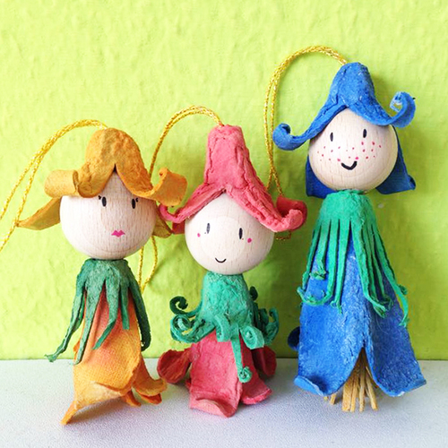Recycled Flower Fairies