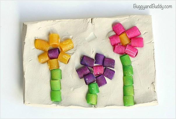 Pasta Mosaic Art Project For Kids Allfreekidscrafts Com