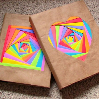 DIY Colored Book Covers