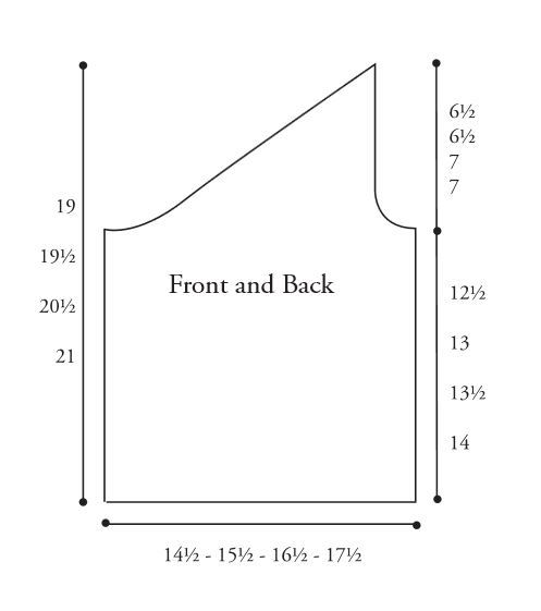 Asymmetrical Rib Top Diagram