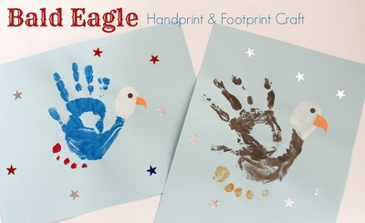 Bald Eagle Handprint and Footprint Craft