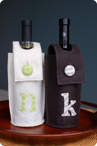 Cute Wine Sleeve Felt Craft