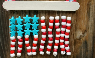Pony Bead American Flag
