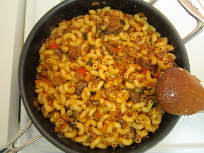 Italian Goulash with Mozzarella Cheese