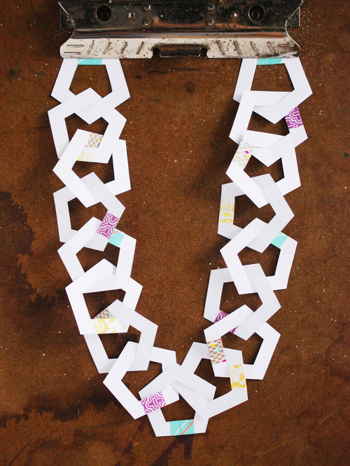 Printable Pentagon Paper Chain