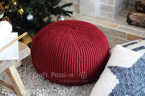 Cherry Red Pouf
