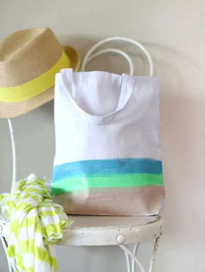 Creative Canvas Beach Bag