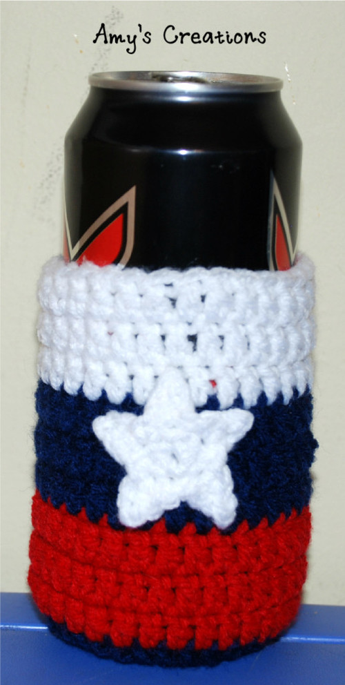 Striped Crochet Can Cozy