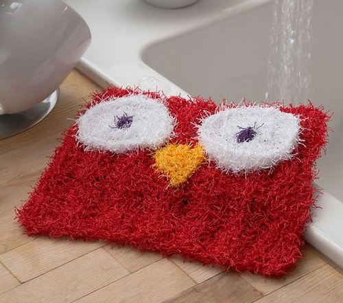 I Dont Give a Hoot Knit Dishcloth