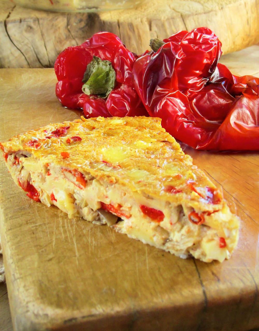 Crustless Roasted Red Pepper Quiche
