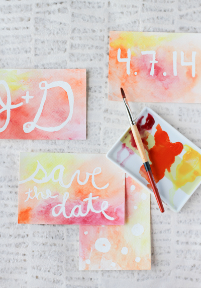Watercolor Handmade Cards