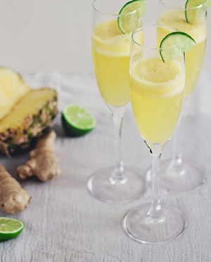 Summer Champagne Cocktail Recipe