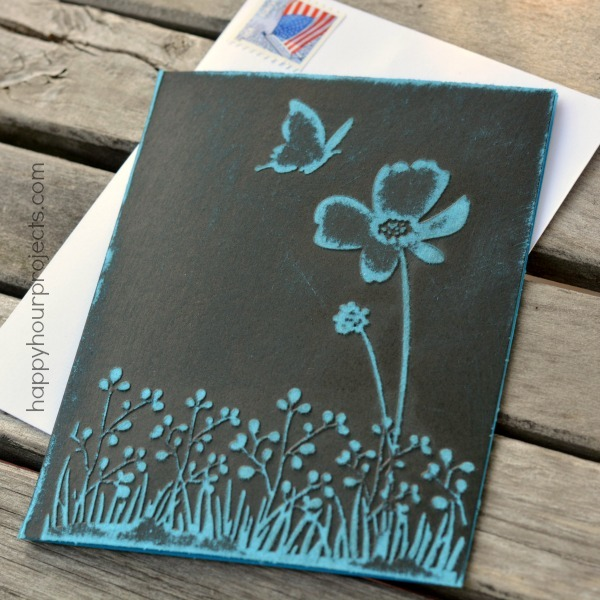 Pretty DIY Embossed Greeting Card