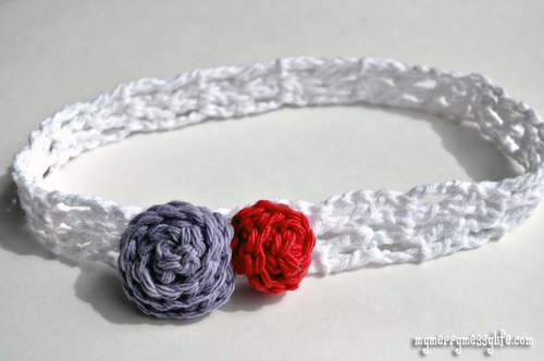 Crochet V Stitch Headband