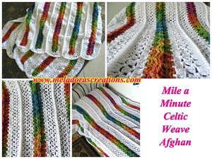 Mile a Minute Rainbow Crochet Afghan