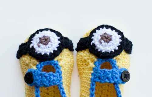 Minion Crochet Baby Booties